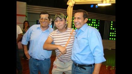 Ollanta Humala derrochó buen humor en sketch televisivo