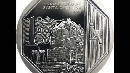 Circula la moneda de sol alusiva al Monasterio de Santa Catalina