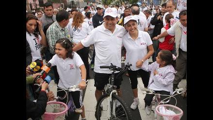 Ollanta Humala encabezó la Gran Bicicleteada por un Perú Saludable