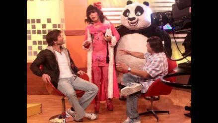 Po, el ninja de Kung Fu Panda 2, visitó set de El estelar del humor