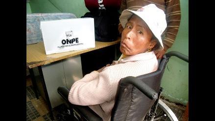 Discapacitados dieron ejemplo de civismo en votación de segunda vuelta