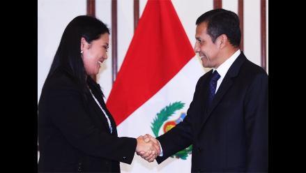 Keiko Fujimori visita a Ollanta Humala un día después de las elecciones