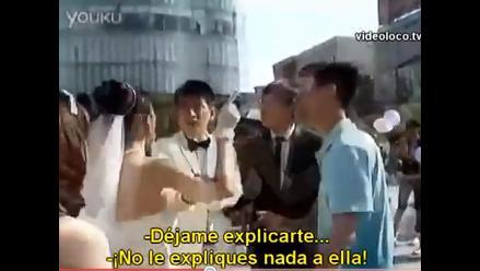 Amante gay interrumpe boda y se lleva al novio en China