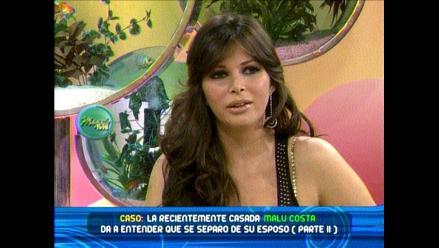 Malú Costa se separó de su esposo Víctor Cubas y se vino a Lima