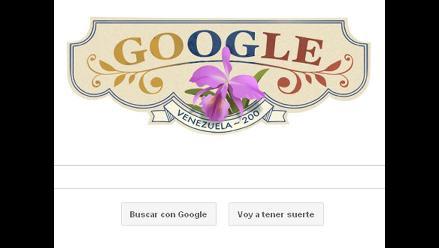 Google dedica doodle a Bicentenario de Venezuela