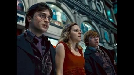 Artistas y fanáticos durante avant premiere de Harry Potter