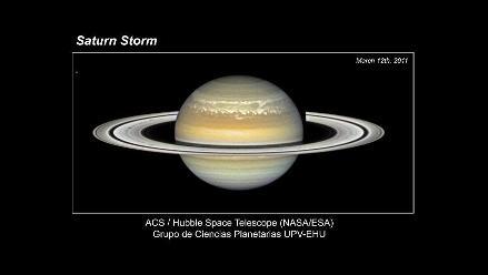 Captan tormenta blanca en Saturno