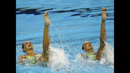 Competidoras demuestran su talento en el Mundial de Natación de China