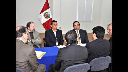 Ollanta Humala se reunió con miembros de la Asociación de Bancos