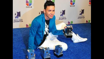 Prince Royce se impone a Ricky Martin y Shakira en los Premios Juventud