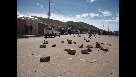 Arequipa: Con bloqueo de carretera se acata paro en Arcata