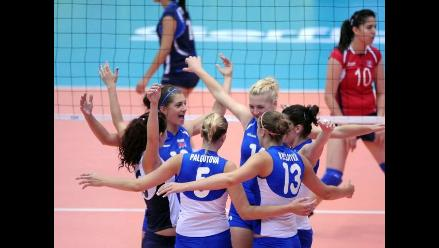 Eslovaquia venció por tres sets a cero a Egipto en Mundial de Voleibol