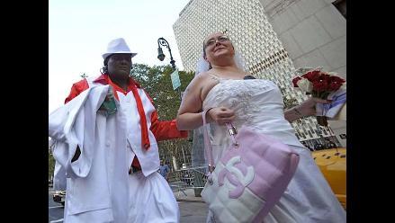 Cientos de parejas homosexuales se dieron el ´sí´ en Nueva York