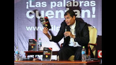 Presidente ecuatoriano presentó su libro en Lima