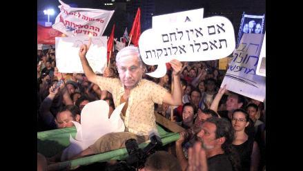 Protestan contra Netanyahu debido a crisis inmobiliaria en Israel