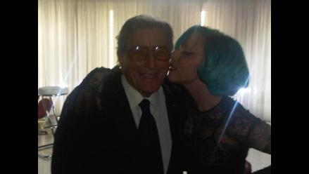 Lady Gaga le canta Happy Birthday a Tony Bennet en el día de su santo