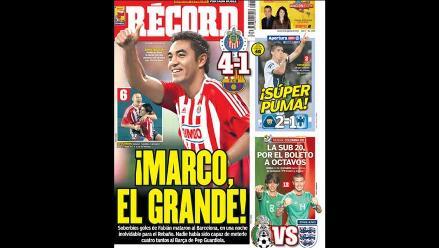 Prensa mexicana alaba la goleada de las Chivas sobre el Barcelona