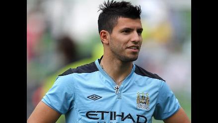 Sergio Agüero está a la expectativa para debutar en el Manchester City
