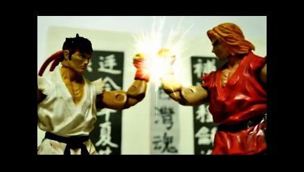 Vea el stop motion con los personajes de Street Fighter