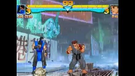 Descartan un Street Fighter vs. Mortal Kombat