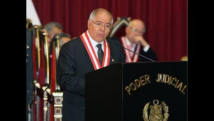 Presidente del PJ destaca que TC haya ratificado condena de Fujimori