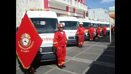 Bomberos atienden 125 mil emergencias al año en Arequipa