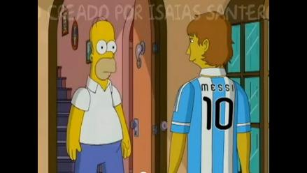 Fan argentino dedica escena de Los Simpsons a Messi