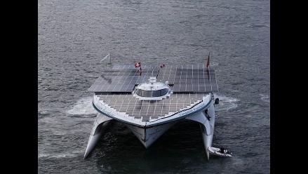 Por primera vez un barco solar atraviesa el mar de China