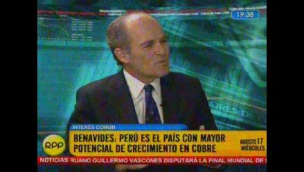 Roque Benavides: El Perú tiene mayor potencial de crecimiento en cobre