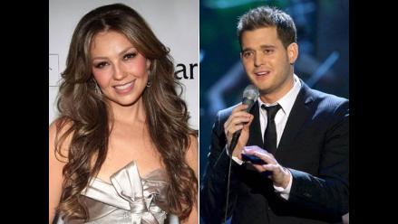 Thalía graba dueto navideño con Michael Bublé