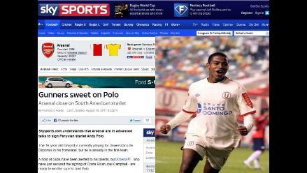 El Arsenal está interesado en Andy Polo, según prensa inglesa
