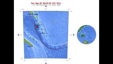 Dos sismos de 7 grados remecieron Vanuatu en el Pacífico sur
