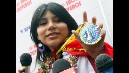Congreso condecorará este lunes a la campeona sub 20 Deysi Cori