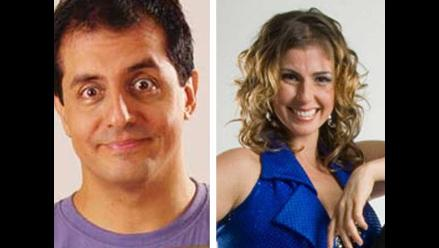 Bárbara Cayo y David Almandoz de Al fondo hay sitio ampayados juntos