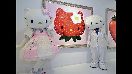 Presentan exposición por los 37 años de Hello Kitty en Japón