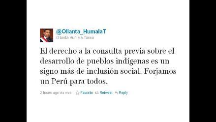 Humala afirma que Consulta Previa es un signo más de inclusión social