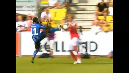 La falta más grosera del fútbol se realizó en Dinamarca