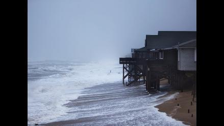 Marejada ciclónica en la costa de Carolina del Norte