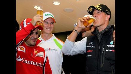 Michael Schumacher celebró el vigésimo aniversario de su debut en la F1