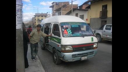 Transportistas incrementan precio del pasaje urbano en Cajamarca