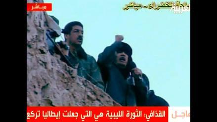 Gadafi asegura que ´Libia no se rendirá y no será colonizada´