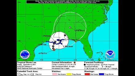 Evacuan áreas de Nueva Orleans por tormenta Lee y se extiende alerta