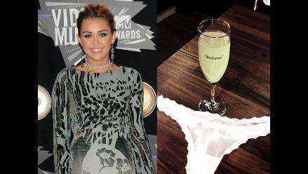 Miley Cyrus mostró su ropa interior en Twitter
