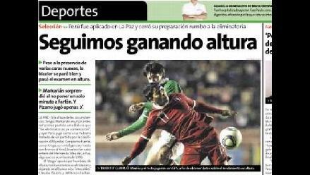 Vea las portadas de los diarios en torno al empate de Perú y Bolivia