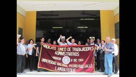 Lambayeque: Administrativos de la UNPRG iniciarán huelga indefinida