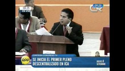 Piden sesión descentralizada del Congreso en Huancavelica