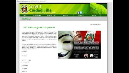 Anonymous hackea sites de municipalidades y región Amazonas