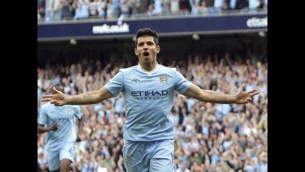 Sergio Agüero marcó tres goles en victoria del Manchester City