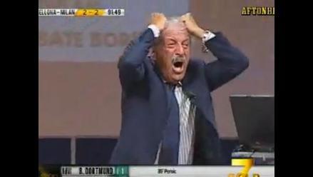 Periodista Tiziano Crudeli enloquece por empate del Milan