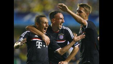 Villarreal pierde de local ante Bayern de Múnich en Liga de Campeones